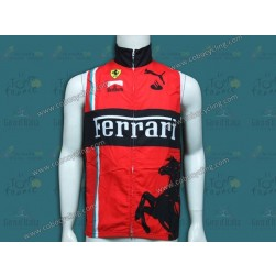 2013 Team Ferrari Red Cycling Wind Vest