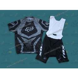 2014 Fox Grey Cycling Jersey And Bib Shorts