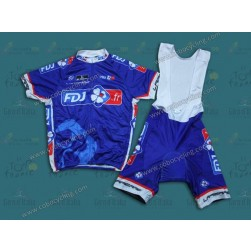 2014 Francaise des Jeux Blue Cycling Jersey And Bib Shorts