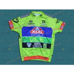 2014 Neri Sottoli- Yellow Fluo Cycling Jersey