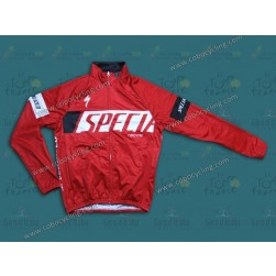 2013 SPED Red Thermal Cycling Long Sleeve Jersey