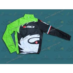 2013 Sidi Black And Green Thermal Cycling Long Sleeve Jersey