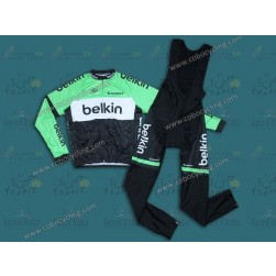 2014 Belkin Pro Team Long Sleeve Cycling Jersey And Bib Pants Set