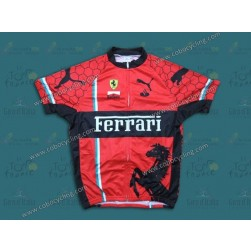 2013 Team Ferrari Red Cycling Jersey