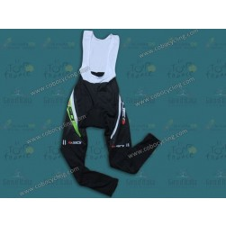 2013 Sidi Black And Green Thermal Cycling Bib Pants