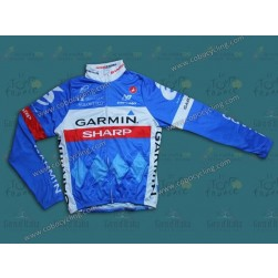 2014 Garmin Sharp Tour de France Thermal Cycling Long Sleeve Jersey