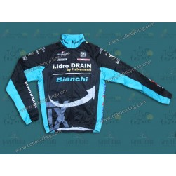 2014 Bianchi TX Black And Green Thermal Long Sleeve Cycling Jersey