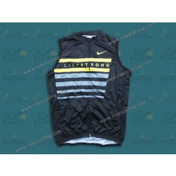 2013 LiveStrong Black Cycling Vest/Sleeveless Jersey