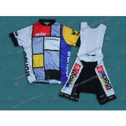 Team La Vie Claire Vintage Cycling Jersey And Bib Shorts