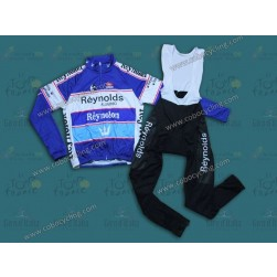 Reynolds Reynolon Blue Thermal Long Cycling Jersey And Bib Pants