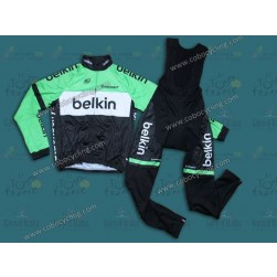 2014 Belkin Pro Team Thermal Long Sleeve Cycling Jersey And Bib Pants