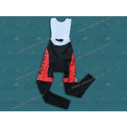 2013 Team Ferrari Red Thermal Cycling Bib Pants