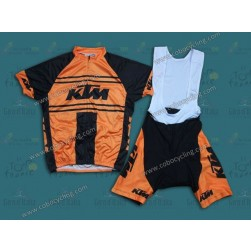 Team KTM Orange Vintage Cycling Jersey And Bib Shorts
