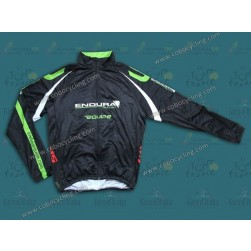 2013 Team Endura Black Thermal Cycling Long Sleeve Jersey