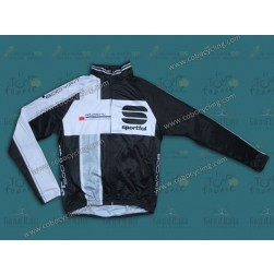 2013 Sportful Black/White Thermal Cycling Long Sleeve Jersey