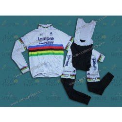 2014 Lampre World Champion Thermal Long Sleeve Cycling Jersey And Bib Pants