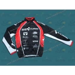2013 CUBE MHW Black Thermal Long Sleeve Cycling Jersey