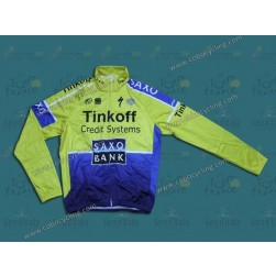 2014 Tinkoff Saxo Bank Thermal Long Sleeve Cycling Jersey