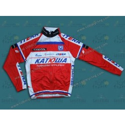 2013 Team Katusha Thermal Cycling Long Sleeve Jersey