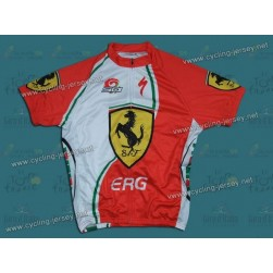 2012 Ferrari ERG White And Green Cycling Jersey