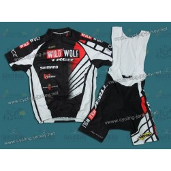 2012 Trek Wild Wolf Black And White Cycling Jersey and Bib Shorts Set