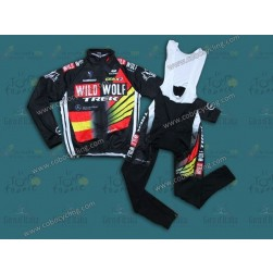 2013 TREK WildWolf Spain Champion Thermal Long Cycling Jersey And Bib Pants