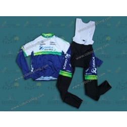 2014 Orica - Green EDGE Long Sleeve Cycling Jersey And Bib Pants Set