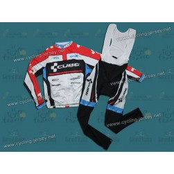 2012 Cube Team Cycling Long Sleeve Jersey And Bib Pants Set