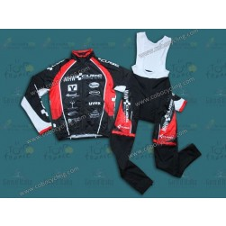 2013 CUBE MHW Black Thermal Long Sleeve Cycling Jersey And Bib Pants