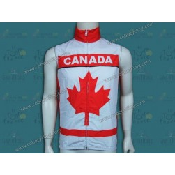 2014 Canada Country Team Cycling Wind Vest