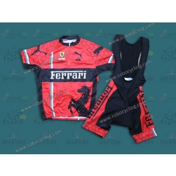 2013 Team Ferrari Red Cycling Jersey And Bib Shorts