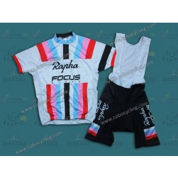 2013 Rapha Focus White Stripe Cycling Jersey And Bib Shorts