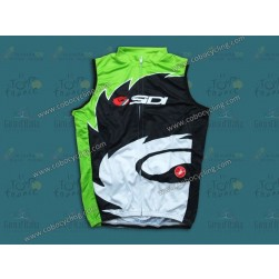 2013 Sidi Black And Green Cycling Vest/Sleeveless Jersey