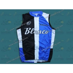 2013 Giant Blanco Black And Blue Cycling Vest/Sleeveless Jersey