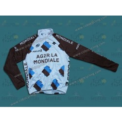 2014 Ag2r-La Mondiale Thermal Long Sleeve Cycling Jersey