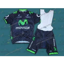 2014 Team Movistar TDF Cycling Jersey And Bib Shorts