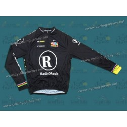 2010 LiveStrong R28 Thermal Champion Black Team Long Sleeve Cycling Jersey