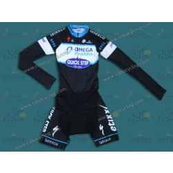 2014 Omega Pharma - Quickstep Long Sleeve Cycling Skinsuit Time Trail Skin Suits