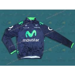 2014 Team Movistar TDF Thermal Cycling Long Sleeve Jersey