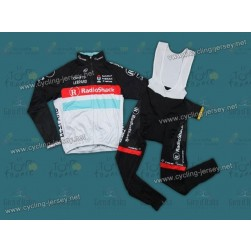 2012 RadioShack Nissan Trek Thermal Cycling Long Sleeve Jersey And Bib Pants Set