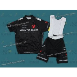 2012 Black Bontrager Cycling Jersey and Bib Shorts Set