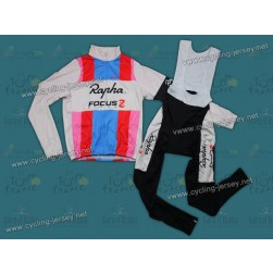Rapha Focus Throwback Thermal Cycling Long Sleeve Jersey And Bib Pants Set
