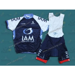 2013 IAM Blue Cycling Jersey And Bib Shorts