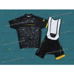 2012 LiveStrong Black Cycling Jersey and Bib Shorts Set