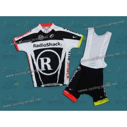 2011 RadioShack Trek Black Team Cycling Jersey And Bib Shorts Set