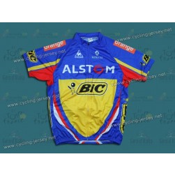 2012 Alstom BIC Blue Cycling Jersey