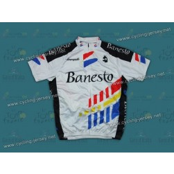 Throwback Banesto White And Black Cycling Jersey