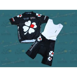 Nalini Francaise Des Jeux Team Black Cycling Jersey and Bib Shorts Set