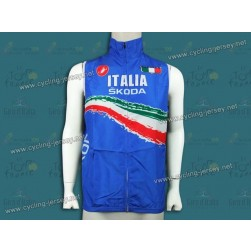 2012 Skoda Italy Champion Blue Cycling Wind Vest