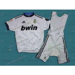 2013 Team Real Madrid White Cycling Jersey And Bib Shorts